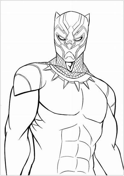 Coloring Superhero Printable Panther Superheroes