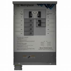 Westinghouse 30-amp Manual Transfer Switch-whmts30