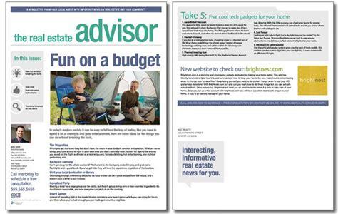 real estate newsletter templates real estate advisor newsletter template volume 2 issue 3