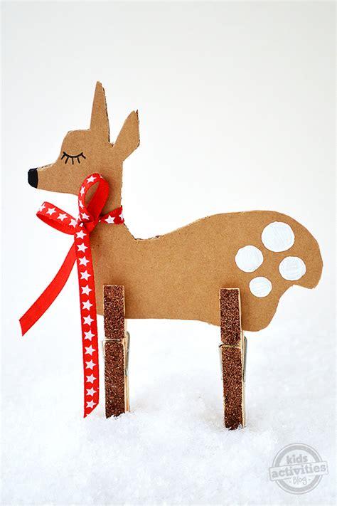 christmas crafts  kids simple cardboard reindeer