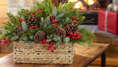 Decorating Ideas Decoration by Evergreen Basket Bouquet