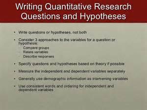 Quantitative Research Questions Examples