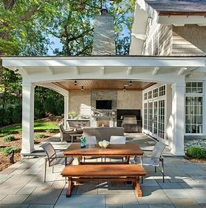 Covered outdoor kitchen plans patio traditional with