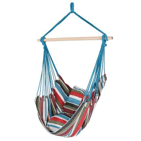 Hanging Hammock Swing Chair by Sunnydaze Hanging Hammock Chair Swing 265lb Capacity