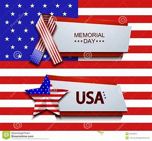 Vector Modern Memorial Day Banners Stock Vector - Image ...