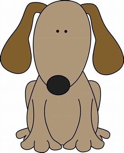Dog Clipart Clip Ears Brown Letter Ear