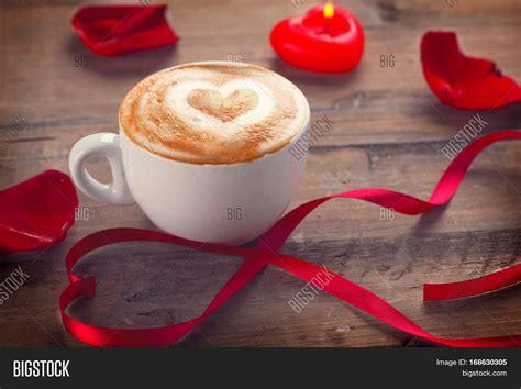 Heart is definitely the one latte art pattern where baristas often start their latte art career. Valentine's Day Coffee Heart On Image & Photo   Bigstock
