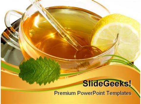 herbal tea food powerpoint templates  powerpoint