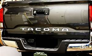 2016 2017 toyota tacoma mirror chrome tailgate letters With 2017 toyota tacoma tailgate letters