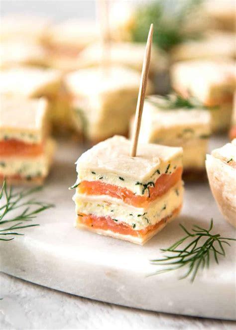 smoked salmon appetizer bites recipetin eats