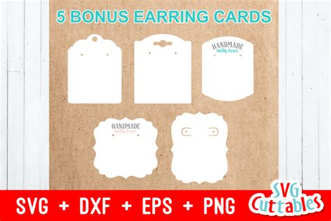 earring bundle svgcuttablefiles