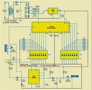 Manual Eprom Programmer Circuit Diagram