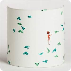 Applique Murale Chambre Enfant : applique murale enfant en tissu motif vintage hirondelles ~ Teatrodelosmanantiales.com Idées de Décoration