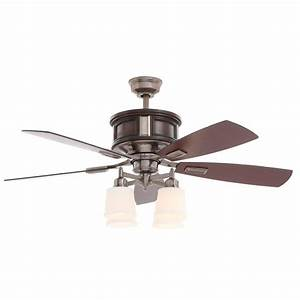 Hampton bay garrison in indoor gunmetal ceiling fan