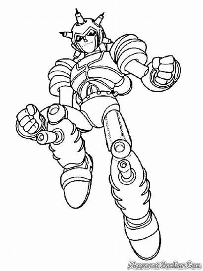Boy Astro Mewarnai Kartun Gambar Robot Tweet