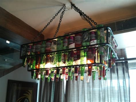 Beer Bottle Chandelier @ Xiian,delhi