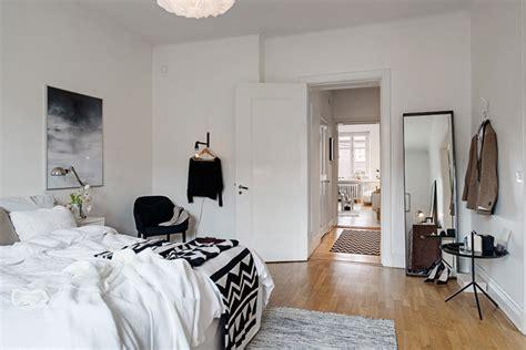 chambre scandinave deco appartement familial à la décoration scandinave