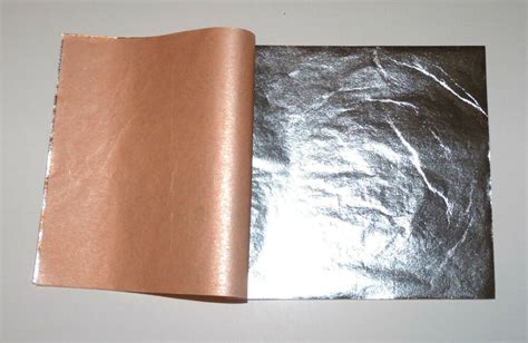 999 silver leaf sheets 50 leaves 3 75 quot 3 75