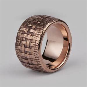 bespoke textured weave wedding ring 9ct rose gold With bespoke mens wedding rings