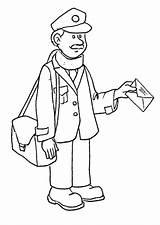 Coloring Mailman Cartero Dibujo Oficios Colorear Dibujos Carteiro Profesiones Postman Carta Mail Coloringhome Helpers Community Imagens Delivering Noviembre Imagen Colouring sketch template