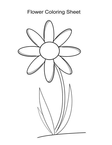 Coloring Flower by 10 Flower Coloring Sheets For And Boys Free
