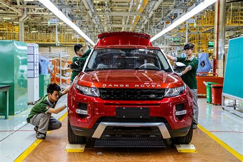 Land Rover Jaguar Line by Jaguar Land Rover Opens Shanghai Plant Which Will Build
