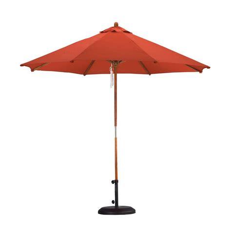 california umbrella 9 ft wood pulley open patio umbrella