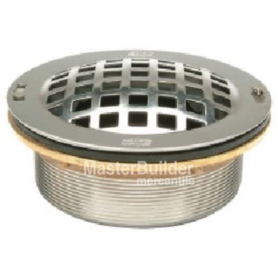 zurn z1996 sdl stainless steel drain with dome strainer
