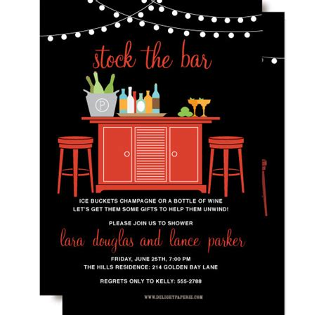 Stock The Bar Shower Invitation Stock The Bar Couples Shower Invitation