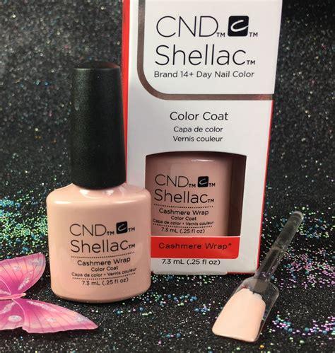 cnd shellac cashmere wrap gel color glacial illusion  gel