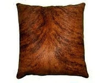 Brindle Cowhide Pillows - medium brindle cowhide pillow