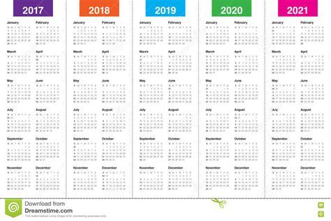 simple calendar template     stock vector