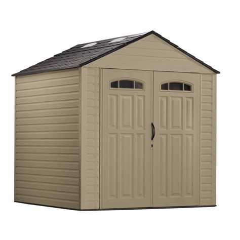 roughneck gable storage shed shop rubbermaid roughneck gable storage shed common 7 ft