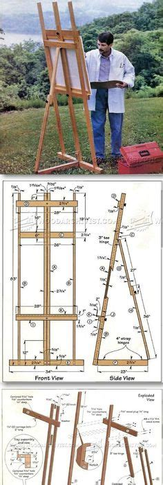 making   large diy easel plans   artists easel