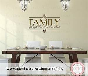 family vinyl wall decal side by side hand in hand heart to With the best of family decals for walls