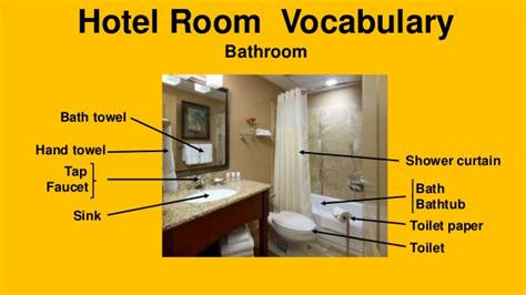 bed cusion hotel room vocabulary