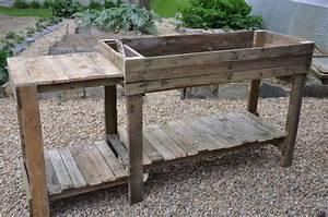 Entretien De La Maison : meuble de jardinage en bois de r cup palettes tout fait maison entretien de la maison ~ Nature-et-papiers.com Idées de Décoration