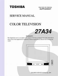 Pdf Manual For Toshiba Tv 27a34