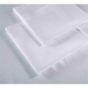 Serviette De Table Blanche : serviette satin bande satin blanche 100 coton 215g m 51x51 cm ~ Teatrodelosmanantiales.com Idées de Décoration