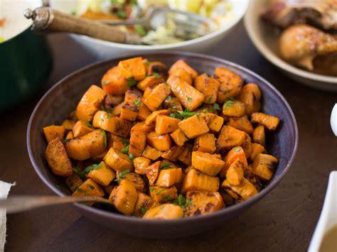 sweet potato sides recipes the best roasted sweet potatoes recipe serious eats