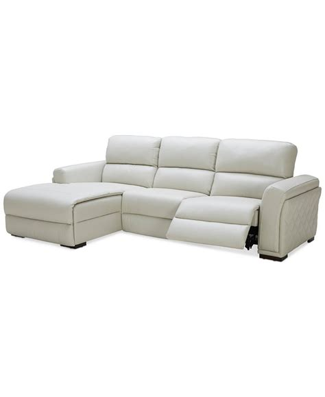 power reclining sectional sofa with chaise jessi 3 pc leather sectional sofa with chaise with 1 power