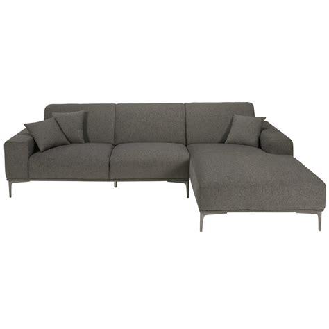 canape 6 places canapé d 39 angle droit 3 places tissu gris bellesio vendu