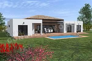 Maison Plain Pied En L : plan de maison moderne template ~ Melissatoandfro.com Idées de Décoration