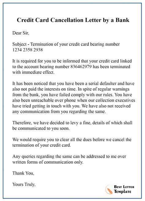 If you've been thinking about canceling a credit card, it's critical to understand how it will affect your entire financial life. 5+ Sample Cancellation Letter Template For Credit Card Services