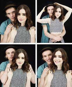 Jamie Campbell Bower & Lily Collins + EW Photoshoot ...