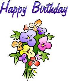 Happy Birthday Flowers Clip Art