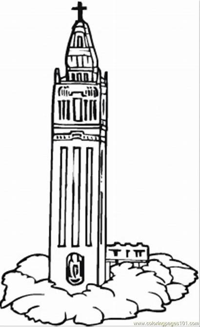 Coloring Clock Tower Pages Buildings Ben Template