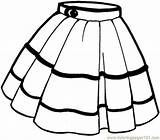 Skirt Coloring Pages Clothing Coloringpages101 sketch template