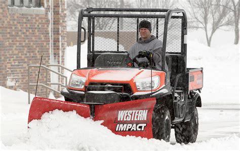 light duty truck plow western impact utv snow plow dejana truck utility