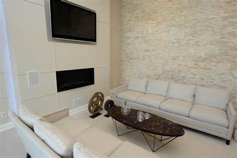 stacked accent wall living room living